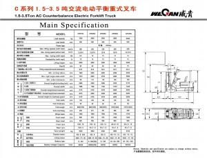 WeCan C 1.5-3.5T AC спецификация