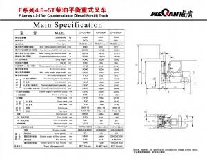 WeCan F 4.5-5T спецификация
