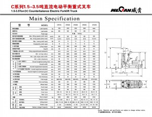 WeCan C 1.5-3.5T DC спецификация