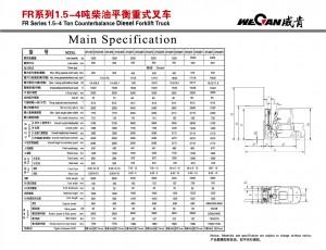 WeCan FR 1.5-4T спецификация